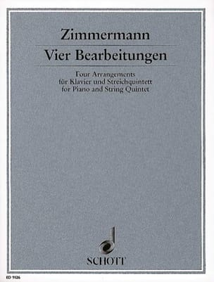 Vier Bearbeitungen - Klavier u. Streichquintett laflutedepan