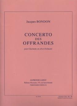 Concerto des offrandes Jacques Bondon Partition laflutedepan