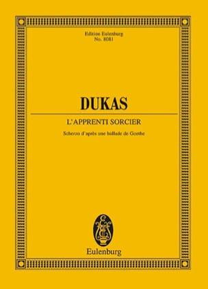 l'Apprenti Sorcier - Conducteur DUKAS Partition laflutedepan