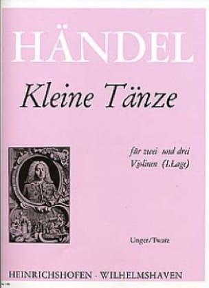 Kleine Tänze - HAENDEL - Partition - Violon - laflutedepan.com