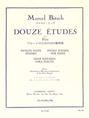 12 Etudes pour flûte Marcel Bitsch Partition laflutedepan