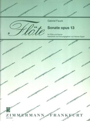 Sonate Opus 13 FAURÉ Partition Flûte traversière - laflutedepan