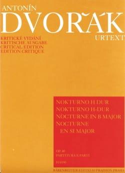 Nocturno H-Dur op. 40 -Partitur + Stimmen DVORAK laflutedepan