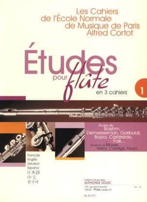 - Studies for flute - Volume 1 Cahiers of the Normal School - Partition - di-arezzo.co.uk