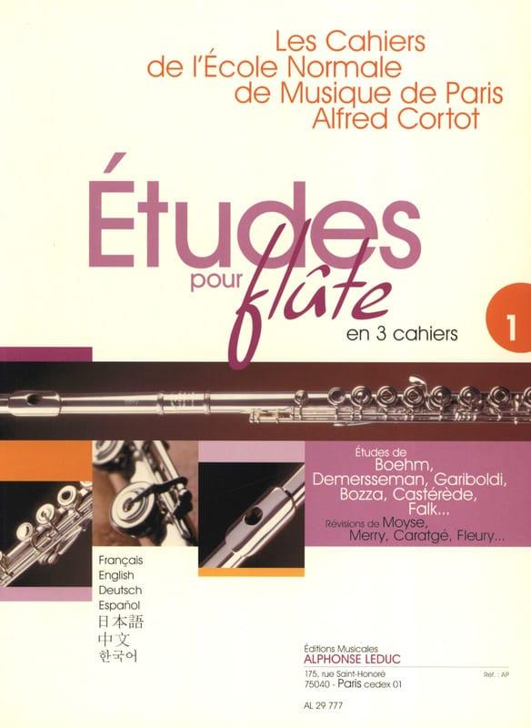 Etudes pour flûte - Volume 1 Cahiers de l'Ecole Normale - laflutedepan.com