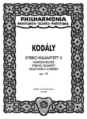 Quatuor à cordes n° 2 op. 10 - Conducteur KODALY laflutedepan