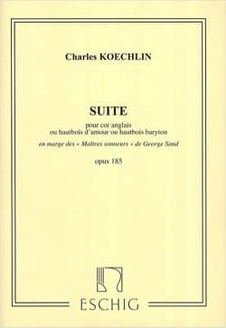 Suite - Opus 185 Charles Koechlin Partition Clarinette - laflutedepan