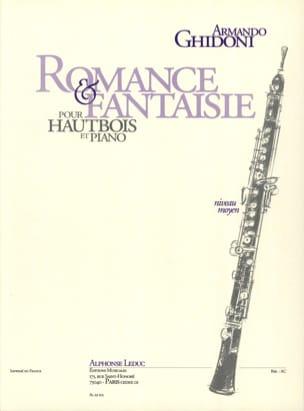 Romance et Fantaisie Armando Ghidoni Partition Hautbois - laflutedepan