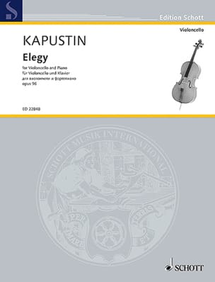 Elégie Nikolai Kapustin Partition Violoncelle - laflutedepan