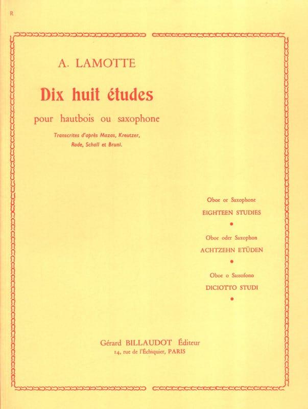 18 Etudes - Antony (Fils) Lamotte - Partition - laflutedepan.com