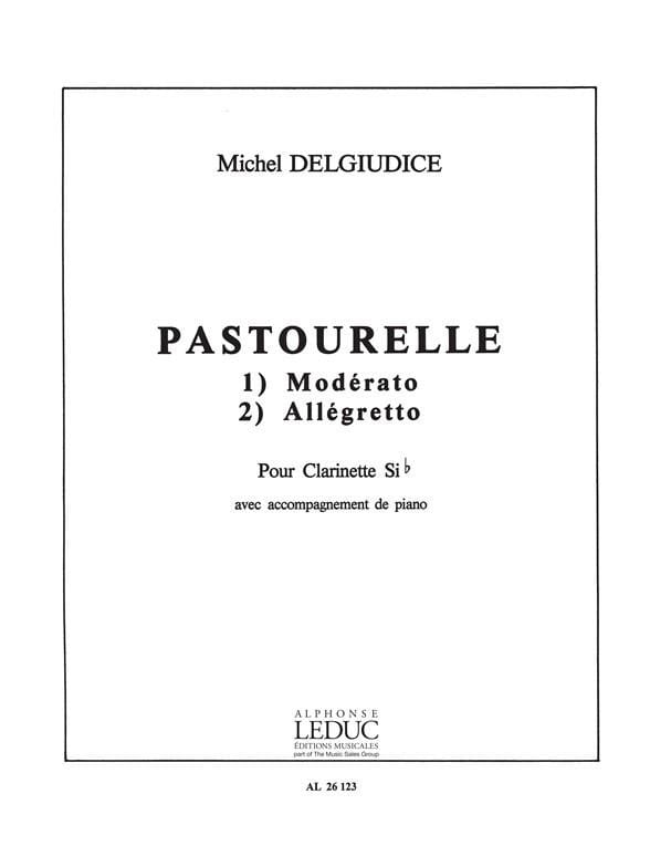 Pastourelle - Michel Delgiudice - Partition - laflutedepan.com