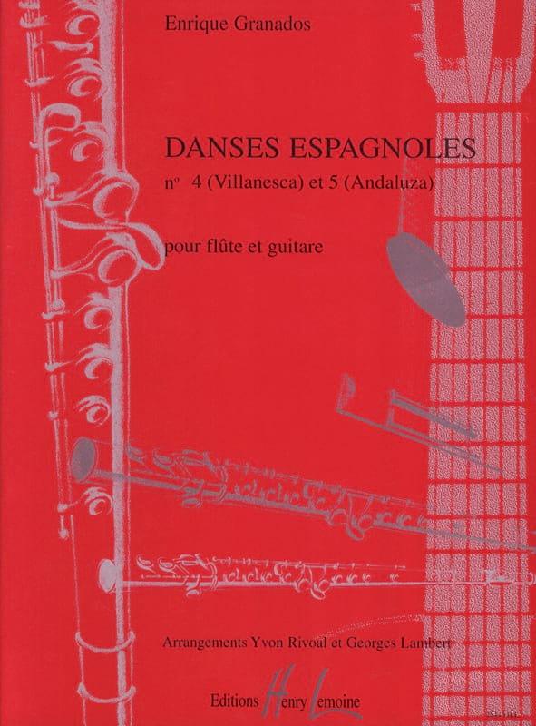 Danses espagnoles n° 4 et 5 - Flûte guitare - laflutedepan.com