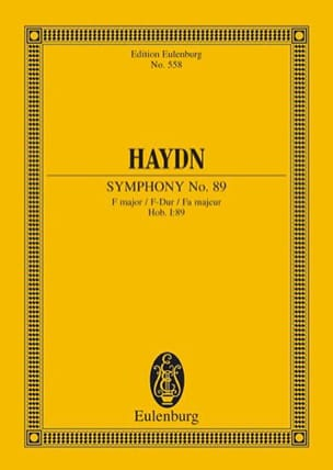 Sinfonie Nr. 89 F-Dur HAYDN Partition Petit format - laflutedepan