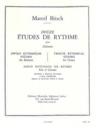 12 Etudes de rythme - Clarinette Marcel Bitsch Partition laflutedepan