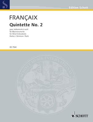 Quintette n° 2 1987 - Instruments à vent - Parties laflutedepan