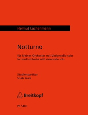 Notturno Helmut Lachenmann Partition Grand format - laflutedepan