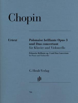 Polonaise brillante op. 3 et Duo concertant pour piano et violoncelle laflutedepan