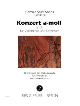 Concerto A Moll Op.33 SAINT-SAËNS Partition Violoncelle - laflutedepan