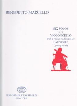 Six Solos for a Violoncello - Benedetto Marcello - laflutedepan.com