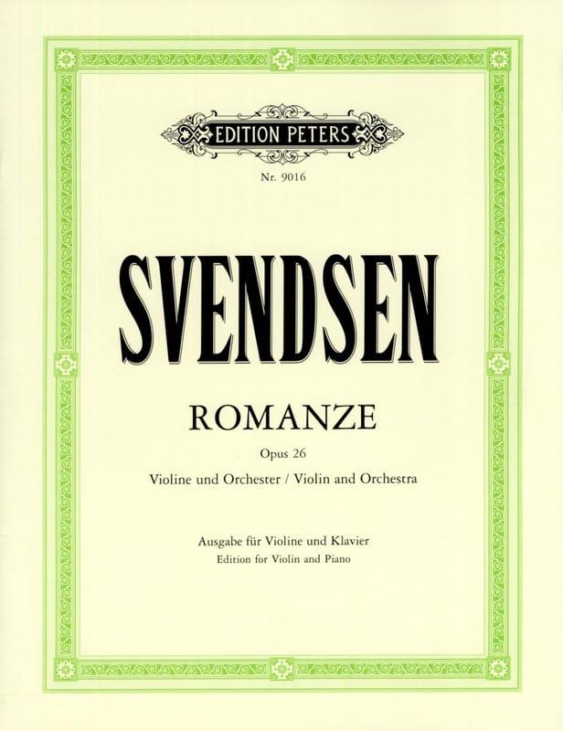 Romanze op. 26 - Johan Severin Svendsen - Partition - laflutedepan.com