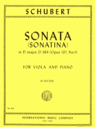 Sonatina n° 1 op. 137 - D. 384 - SCHUBERT - laflutedepan.com