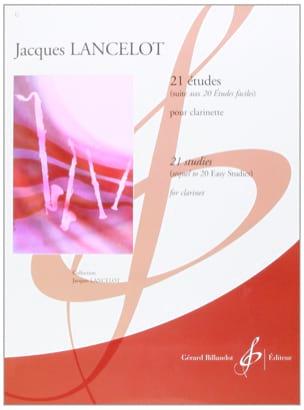 21 Etudes pour clarinette Jacques Lancelot Partition laflutedepan