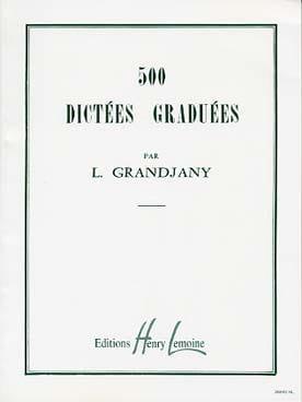 500 Dictées graduées L. Grandjany Partition laflutedepan