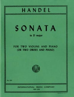 Sonata in D major - 2 Violins piano HAENDEL Partition laflutedepan