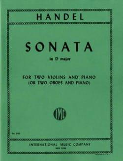 Sonata in D major - 2 Violins piano HAENDEL Partition laflutedepan