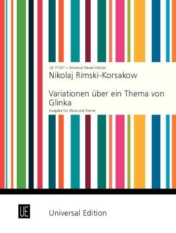Variationen über ein Thema von Glinka - Oboe Klavier - laflutedepan.com