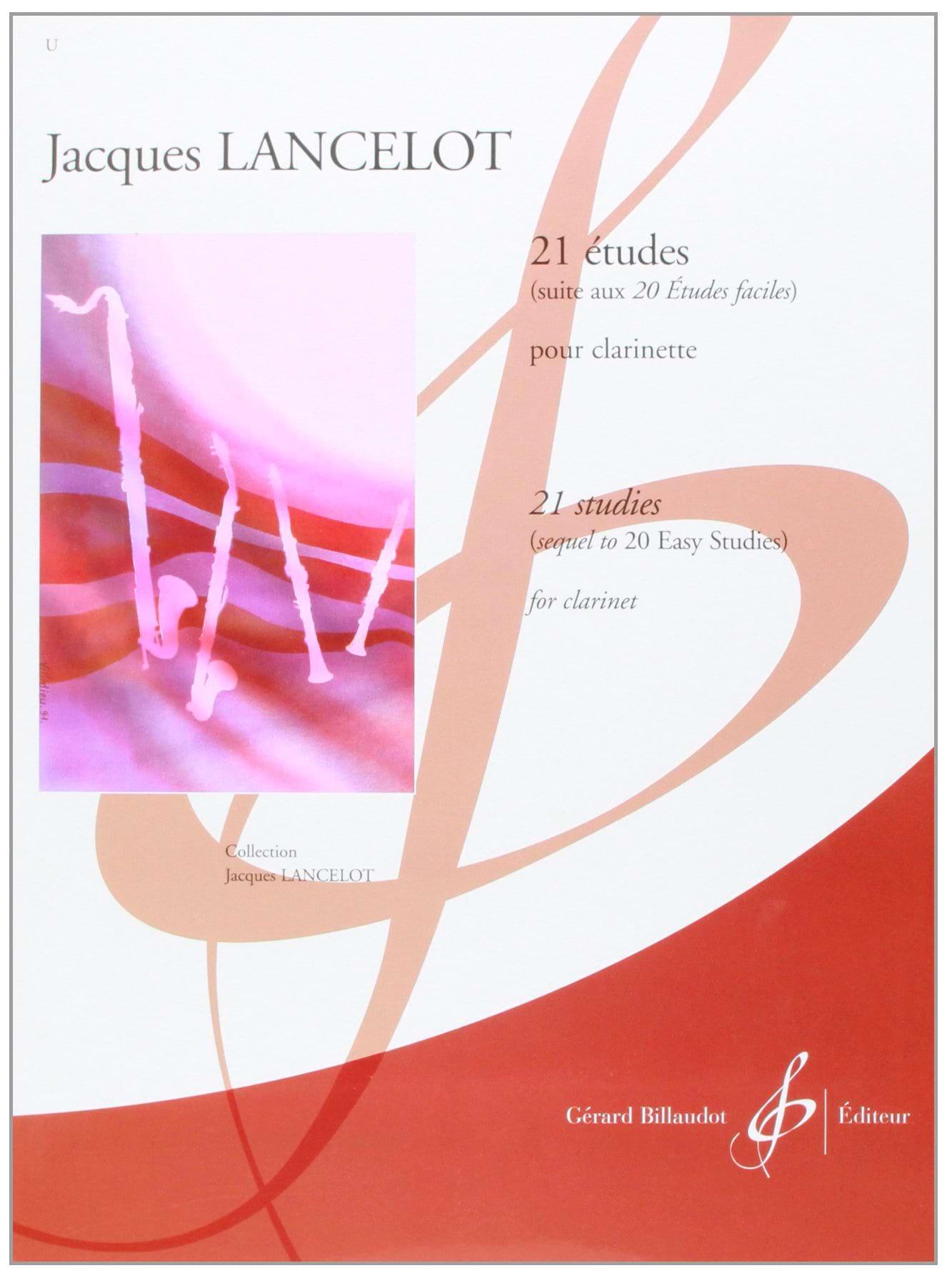 21 Etudes pour clarinette - Jacques Lancelot - laflutedepan.com