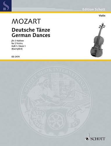 Deutsche Tänze, Bd. 1 - MOZART - Partition - Violon - laflutedepan.com