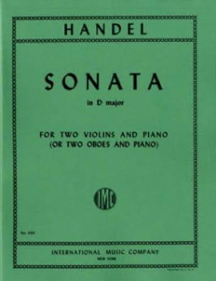 Sonata in D major - 2 Violins piano - HAENDEL - laflutedepan.com