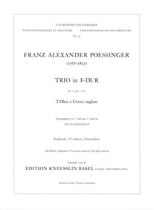 Trio in F-Dur -2 Oboen Englischhorn - laflutedepan.com