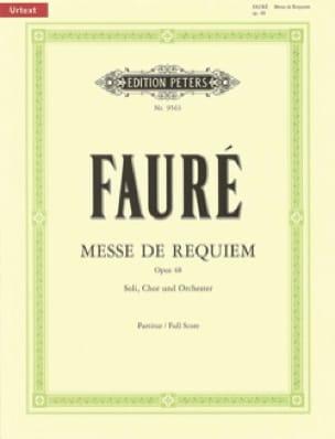 Messe de Requiem D-Moll Op. 48 Urtext - FAURÉ - laflutedepan.com