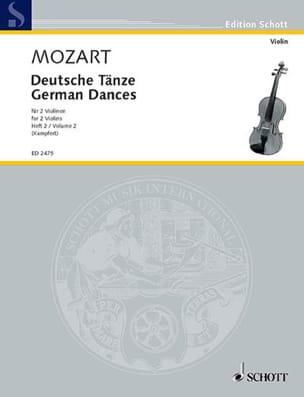 Deutsche Tänze, Bd. 2 MOZART Partition Violon - laflutedepan