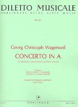 Concerto in A - Georg Christoph Wagenseil - laflutedepan.com