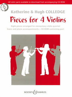 Pieces For 4 Violins Rom Partition Violon - laflutedepan
