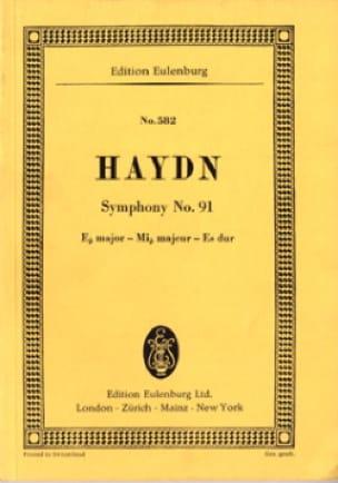 Sinfonie Nr. 91 Es-Dur - HAYDN - Partition - laflutedepan.com