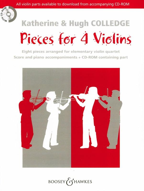 Pieces For 4 Violins Rom - Partition - Violon - laflutedepan.com