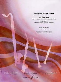 Jacques Lancelot - 23 estudios para clarinete - Partition - di-arezzo.es