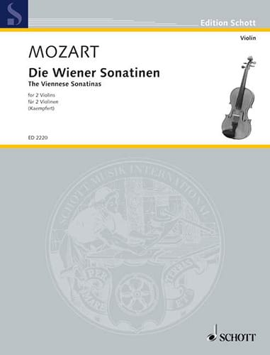 Die Wiener Sonatinen - MOZART - Partition - Violon - laflutedepan.com