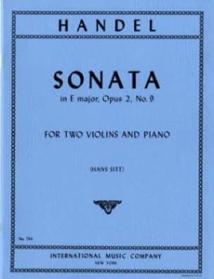 Sonata E major op. 2 n° 9 -2 violins piano - laflutedepan.com