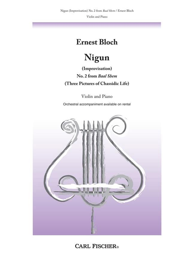 Nigun Improvisation - BLOCH - Partition - Violon - laflutedepan.com