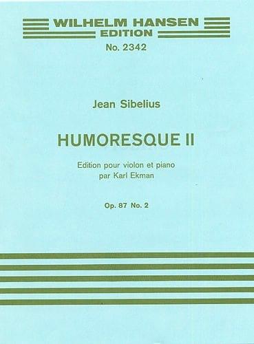 Humoresque 2, op. 87 n° 2 - SIBELIUS - Partition - laflutedepan.com