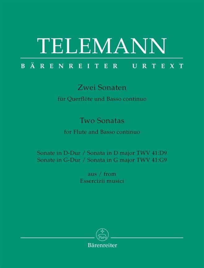 2 Sonates Pour Flûte et Basse Continue - TELEMANN - laflutedepan.com
