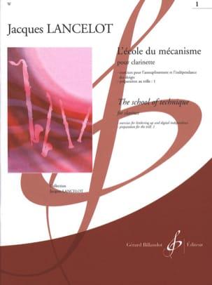 Ecole du Mécanisme - Volume 1 Jacques Lancelot Partition laflutedepan