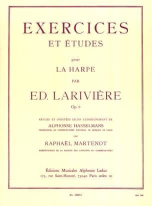 Exercices et Etudes op. 9 pour harpe Ed. Larivière laflutedepan