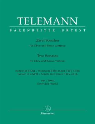 2 Sonates pour Hautbois et Basse Continue TELEMANN laflutedepan