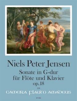 Sonate en Sol Majeur op. 18 Niels Peter Jensen Partition laflutedepan